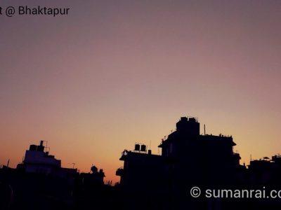 Evening Sunset Bhaktapur